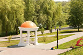 Cna river embankment. City of Tambov — Stock Photo