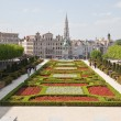 Stock Photo: Brussels, view of the lower city from Mountain of Arts