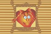 Heart is in a window. EPS 10 vector — Stock Vector