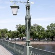 Lanterns on Ioanovskom to the bridge — Stock Photo