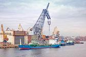 Puerto de la ciudad de san petersburgo — Foto de Stock