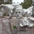Stock Photo: Monument to composer Sibelius