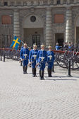 Changing of the guard near the royal palace. Sweden. Stockholm — Stock Photo