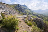 On Laspi mountain pass — Stock Photo