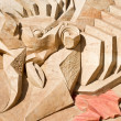 Stock Photo: Shortlived sculpture from sand. On arena