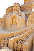 Shortlived sculpture from sand. From the remote past — Stock Photo
