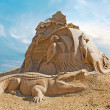 Stock Photo: Shortlived sculpture from sand. Australia