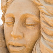 Stock Photo: Shortlived sculpture from sand. Faith, Hope and Charity