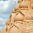 Stock Photo: Shortlived sculpture from sand. Church of Transfiguration