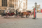 On the street in Dresden — Stock Photo