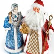 Ded Moroz and Snegurochka — Stock Photo