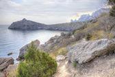 Sendero a lo largo de la ladera. hdr — Foto de Stock