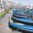 Gondolas. HDR — Stock Photo