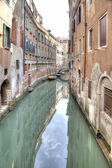 Canais estão na Veneza de cidade. HDR — Fotografia Stock