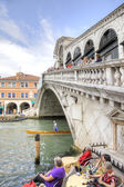 Bridge of Rialto. Venice. HDR — Stock Photo