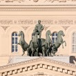 Quadriga with Apollo on the roof of the Large theatre. Ancient s — 图库照片