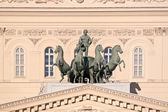 Quadriga with Apollo on the roof of the Large theatre. Ancient s — Stock fotografie
