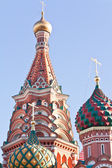 Domes of Saint Vasiliy Beatific — Stock Photo