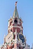 Kremlin Clock of the Spasskaya Tower — Stock Photo