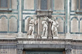 Sculptural composition of cathedral of Basilica di Santa Maria d — Stock Photo