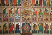 Iconostasis is in the Solovki monastery — Stock Photo
