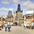 Charles Bridge. Prague. HDR — Stock Photo
