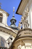 Prague. Dome of the old church — Foto Stock