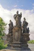 święta barbara, margaret i elżbieta — Zdjęcie stockowe