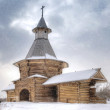 Stock Photo: Snowfall in Kolomenskoye