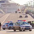 Stock Photo: Verification of documents before Bolshoy Moskvoretsky bridge