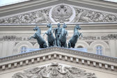 Quadriga with Apollo on the roof of the Large theatre. Ancient s — Стоковое фото