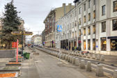 Street is in city Moscow — Stock Photo