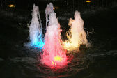 Coloured fountains — Stock Photo