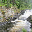 A flat waterfall of Kivach is in Karelia — Stock Photo