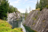 Marble canyon is in Karelia — Stock Photo