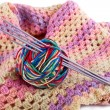 Stock Photo: Female scarf and ball of threads