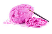 Lavoro a maglia da un gancio — Foto Stock