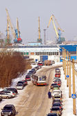 Murmansk, freight port — Stock Photo