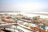 View on a city Nizhny Novgorod — Stock Photo