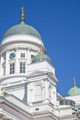 Helsinki Cathedral. Domes — Stock Photo