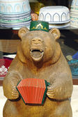 Bear in skullcap  — Stock Photo