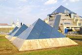 Pyramids are in Cauldron — Stock Photo
