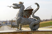 Dragon from the coat of arms of city Kazan — Stock Photo