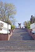 Sevastopol, staircase to the monument to the brig Mercury — Stock Photo