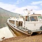 Water transport on the river Yenisei — Stock Photo