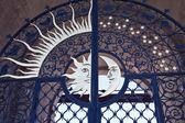 Antigua puerta de la torre de siyumbike es en el kremlin de kazan — Foto de Stock