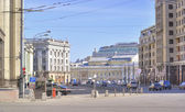 Moscow. A street is the Okhotny Ryad — 图库照片
