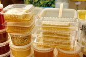 Medové plástve — Stock fotografie