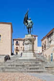 Segovia. Monument knight Juan Bravo  — Stock Photo