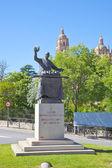 Segovia. Monument chef Candido Lopez  — 图库照片